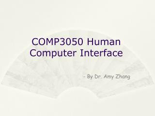 COMP3050 Human Computer Interface