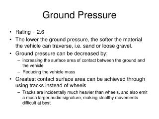 Ground Pressure