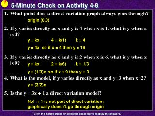 5-Minute Check on Activity  4-8