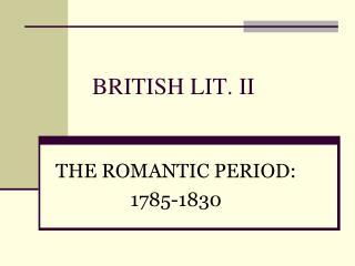 BRITISH LIT. II
