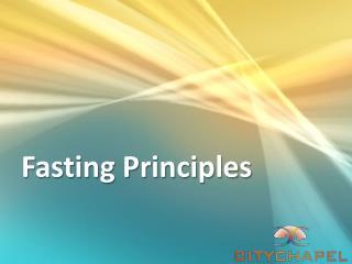 Fasting Principles