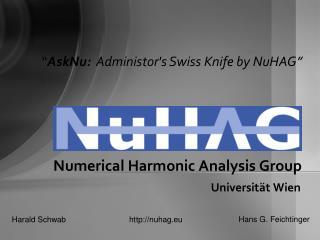 Numerical Harmonic Analysis Group