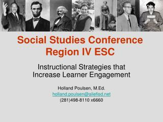 Social Studies Conference Region IV ESC