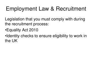 Employment Law & Recruitment
