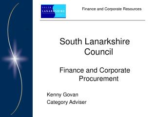 Finance and Corporate Resources