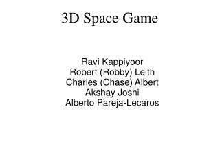3D Space Game