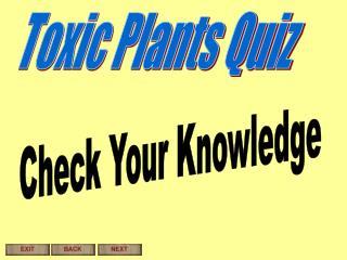 Toxic Plants Quiz