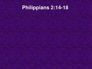 Philippians 2:14-18