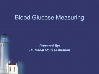 Blood Glucose Measuring