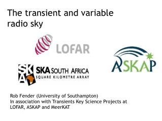 The transient and variable radio sky
