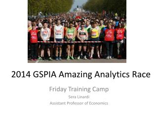 2014  GSPIA Amazing Analytics Race