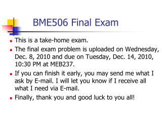BME506 Final Exam