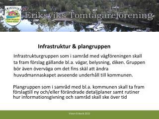 Infrastruktur & plangruppen
