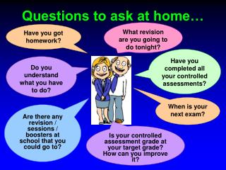 Questions to ask at home…