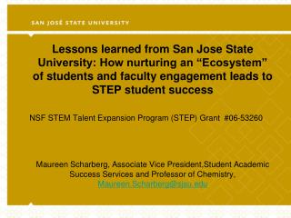 NSF STEM Talent Expansion Program (STEP) Grant  #06-53260