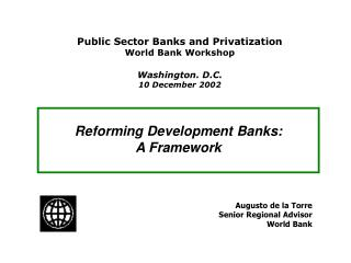 Reforming Development Banks: A Framework