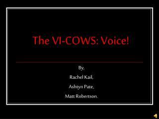 The VI-COWS: Voice!