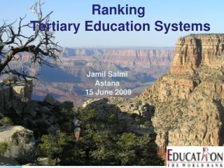 Ranking  Tertiary Education Systems
