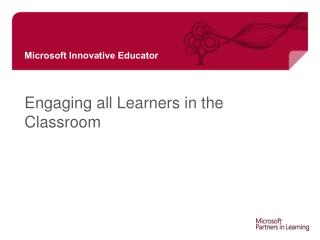Engaging all Learners in the Classroom