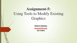 Assignment-5 : Using  Tools to Modify Existing Graphics