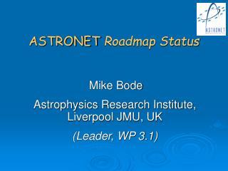 ASTRONET  Roadmap Status