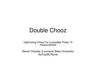 Double Chooz