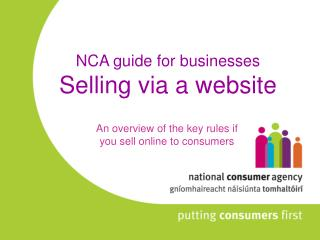 NCA guide for businesses Selling via a website