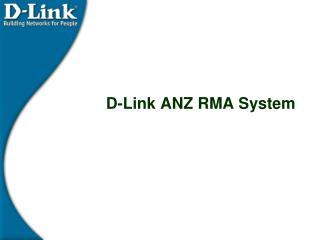 D-Link ANZ RMA System