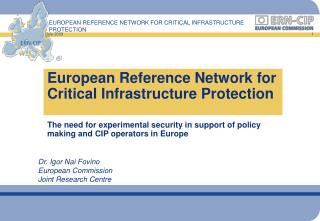 European Reference Network for Critical Infrastructure Protection