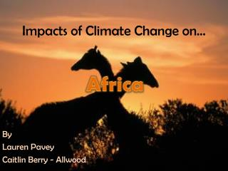 Impacts of Climate Change on…