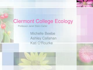 Clermont College Ecology