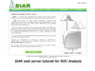 StAR web server tutorial for ROC Analysis