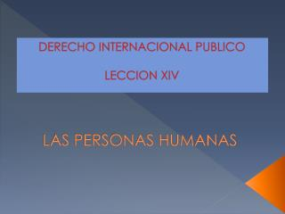 LAS  PERSONAS HUMANAS