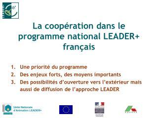 La coopération dans le programme national LEADER+ français