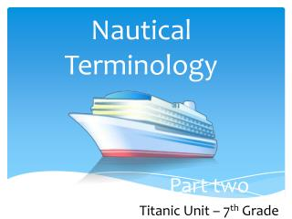 Nautical Terminology