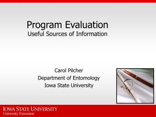 Program Evaluation Useful Sources of Information