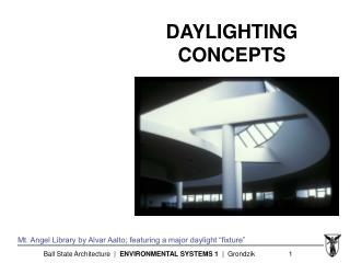 DAYLIGHTING CONCEPTS