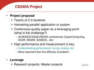 CS240A Project