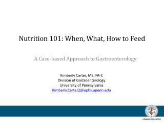 Nutrition 101: When, What, How to Feed