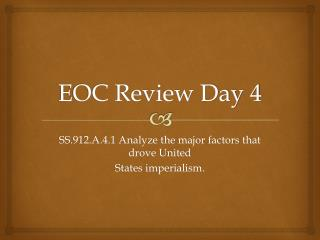 EOC Review Day 4