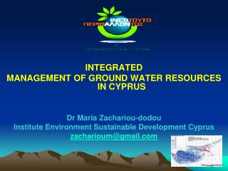 INTEGRATED  MANAGEMENT OF GROUND WATER RESOURCES  IN CYPRUS Dr Maria Zachariou-dodou