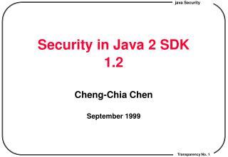 Security in Java 2 SDK 1.2