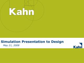 Simulation Presentation to Design