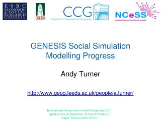 GENESIS Social Simulation Modelling Progress