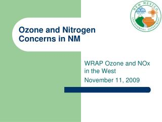 Ozone and Nitrogen Concerns in NM