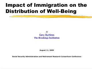 Impact of Immigration on the Distribution of Well-Being