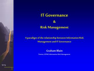 IT Governance & Risk Management