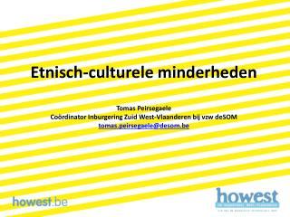 Etnisch-culturele minderheden Tomas Peirsegaele