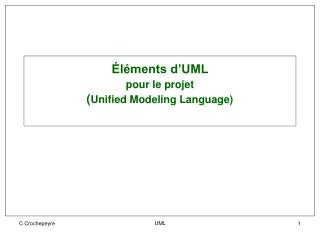 Éléments d'UML  pour le projet ( Unified Modeling Language)