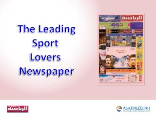 The Leading Sport  Lovers  Newspaper
